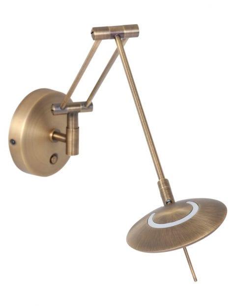 bronzen-klassieke-wandlamp-met-knikarm-2110BR-1