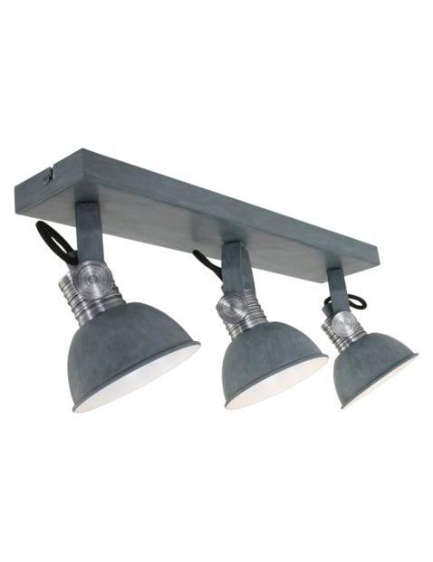 grijze plafondlamp 3lichts industrieel-2134GR