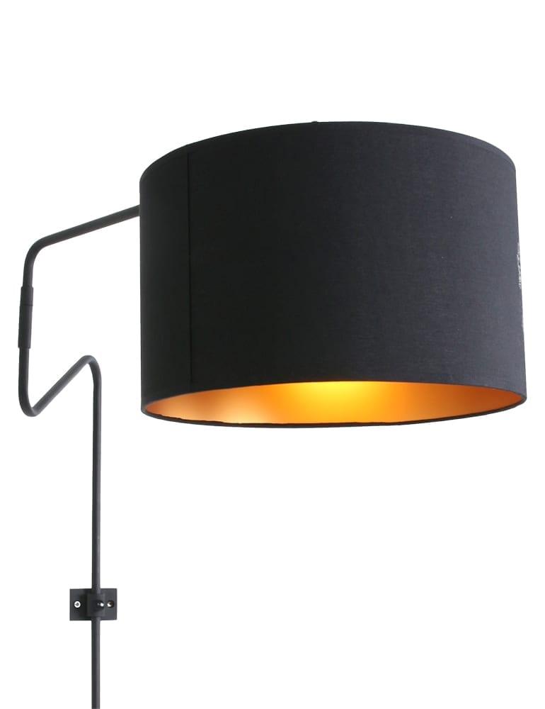 Wandlamp Met Kap.Industriele Boog Wandlamp Met Zwarte Kap Anne Lighting Linstrom