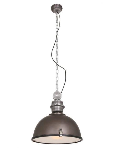 Bruine industriele hanglamp Steinhauer Bikkel ø42 cm