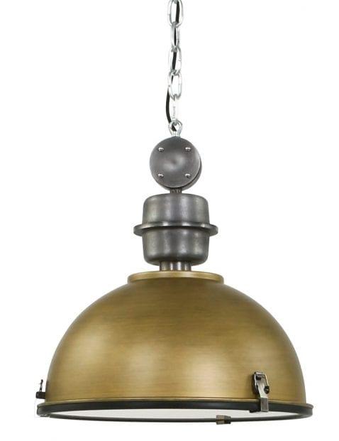 Gouden industriële hanglamp Steinhauer Bikkel ø42 cm
