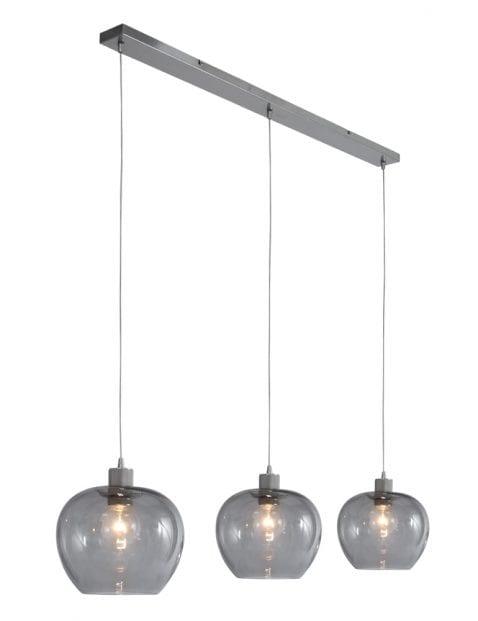 moderne drielichts hanglamp rookglas-1898ST