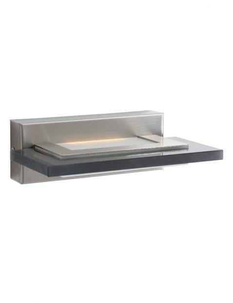 moderne wandlamp met rookglas-7995ST