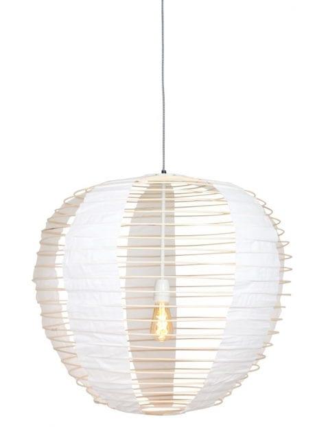 stoffen hanglamp met bamboe-2135BE