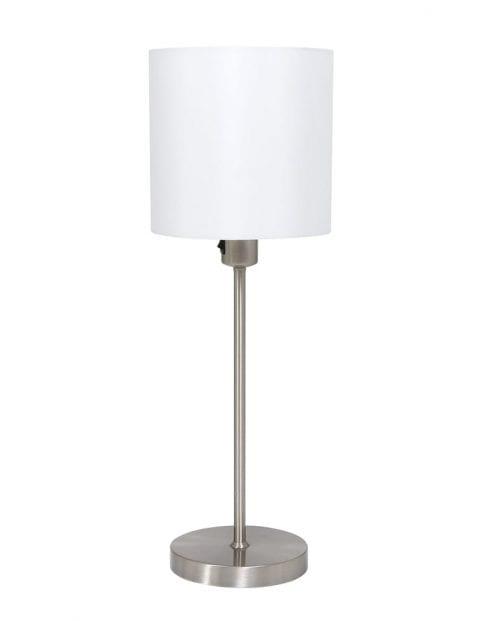 tafellampje met witte ronde kap-1563ST