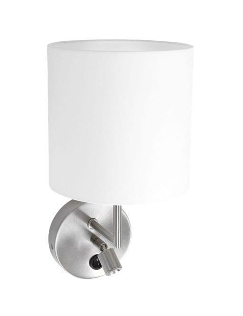 wandlampje met witte  ronde kap-1562ST