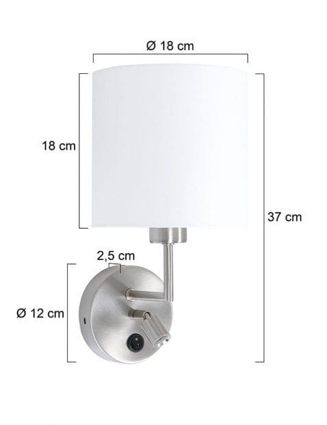 wandlampje-met-witte-ronde-kap-1562ST-7