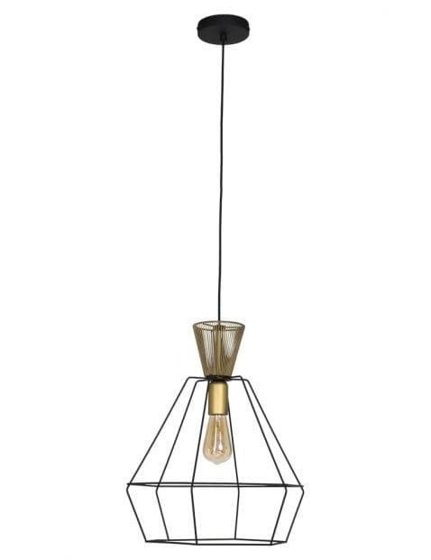 zwart klein draadlampje-2421ZW