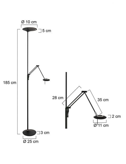 zwarte-uplight-met-leeslamp-2107ZW-7