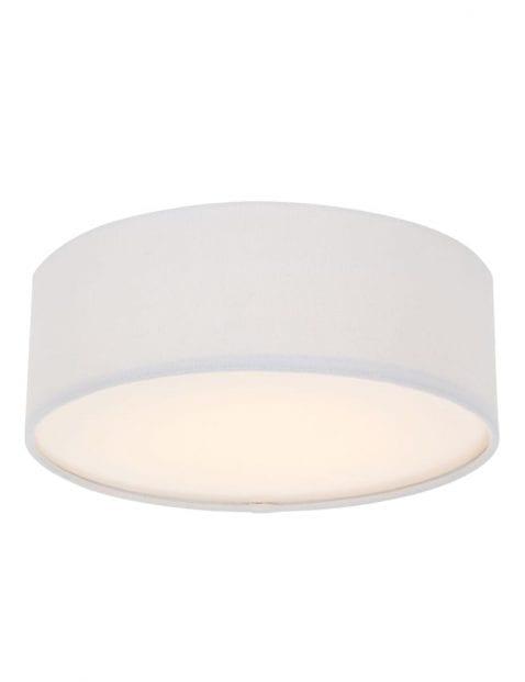 beige stoffen plafondlamp rond-9202W