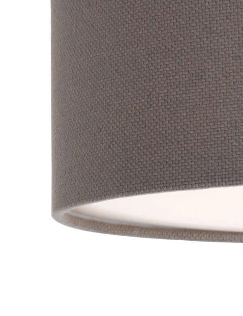 bruine-stoffen-plafondlamp-rond-9201W-1