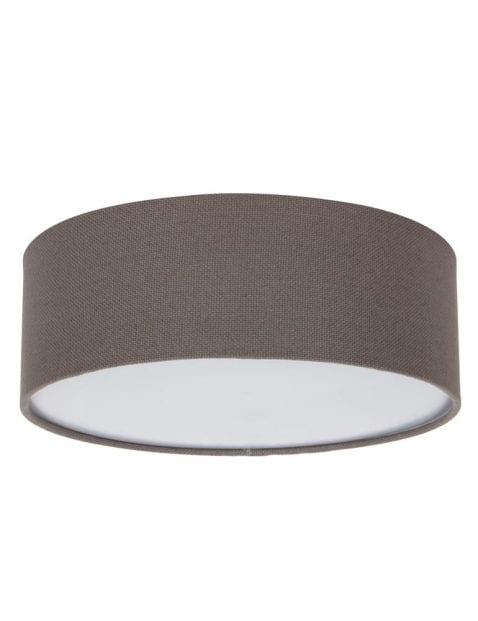 bruine-stoffen-plafondlamp-rond-9201W-2