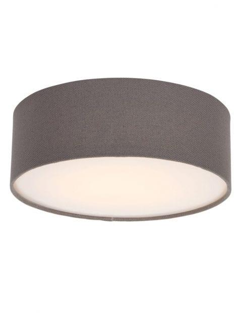 bruine stoffen plafondlamp rond-9201W