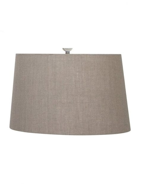 grote lampenkap rond taupe-K1099RS