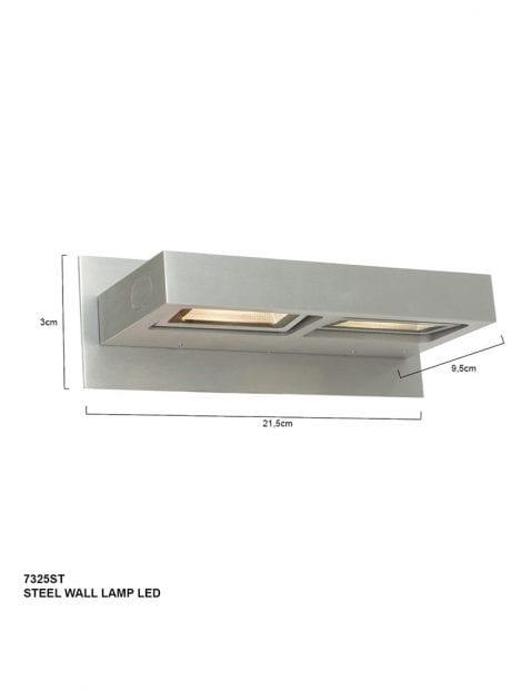 rechthoekige-tweelichts-wandlamp-7325ST-7