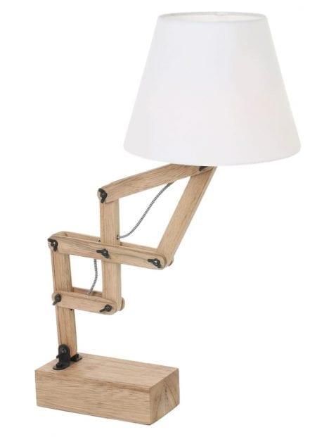 Houten schaarlamp met kap Mexlite Dion