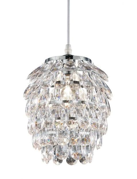 Kristallen hanglampje Reality Petty chroom