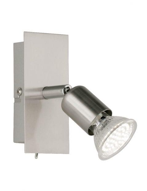 Wand leeslamp slaapkamer Reality Nimes staal