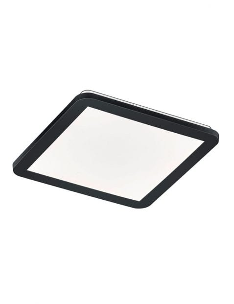 Vierkante LED plafonnière met zwarte rand Reality Camillus