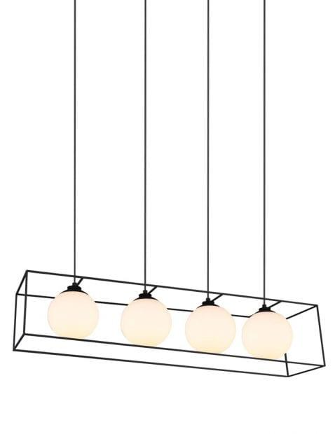 Hanglamp balk met open frame Reality Gabbia zwart