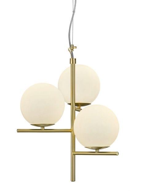 Hanglamp met bollen Trio Leuchten Pure goud