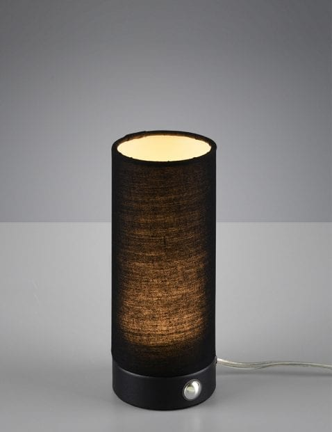 Tafellampje cilindervormig Reality Emir zwart