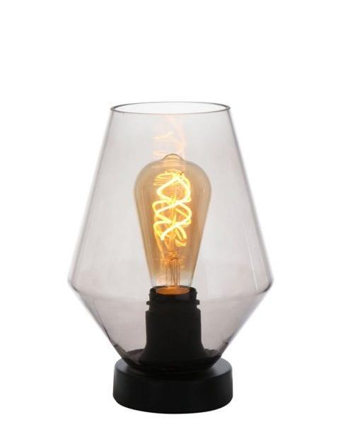 Tafellamp rookglas Steinhauer Ancilla zwart