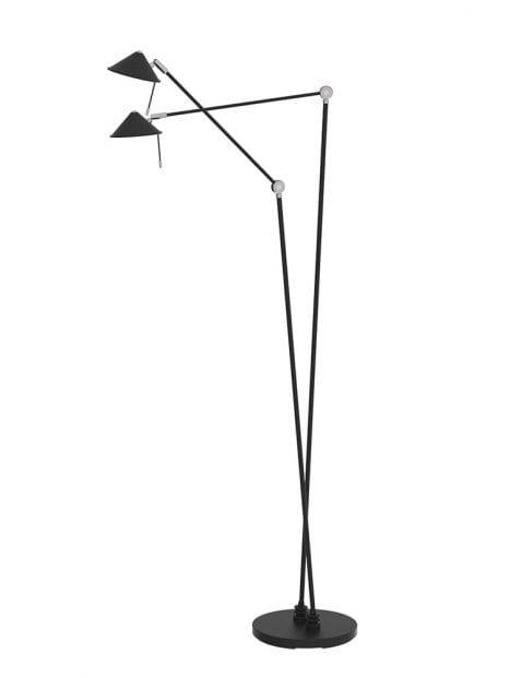 Dubbele LED vloerlamp Steinhauer Punkt zwart