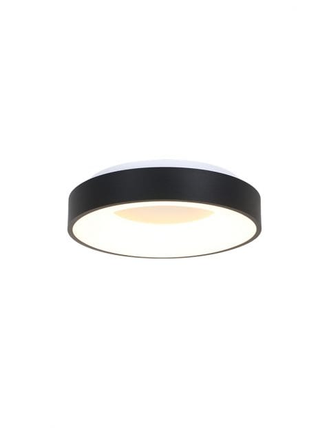 Moderne plafonnière rond LED Steinhauer Ceiling and Wall zwart