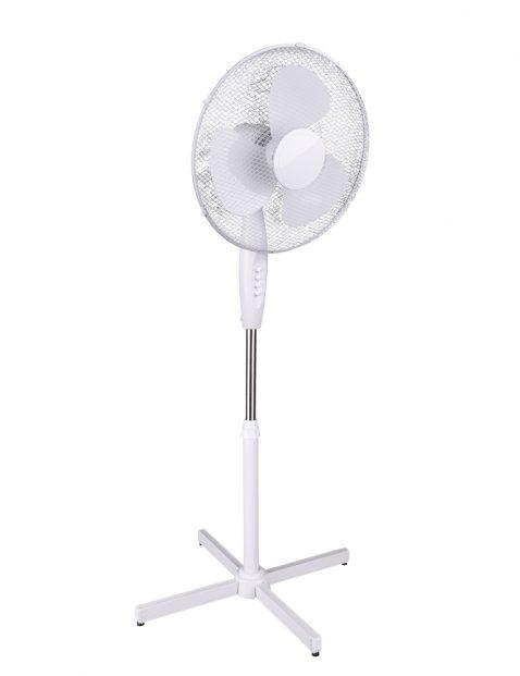Staande ventilator met drie standen Trio Leuchten Bergen wit