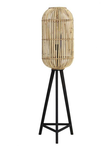 Rotan vloerlamp Light & Living Tibana bruin