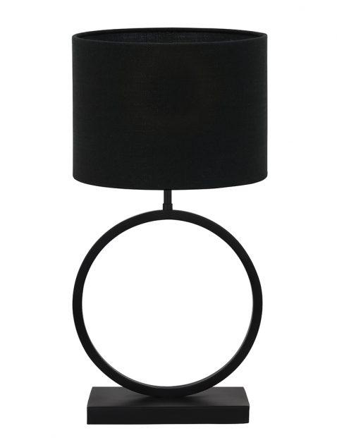 Lampenvoet rond met zwarte kap Light & Living Liva zwart
