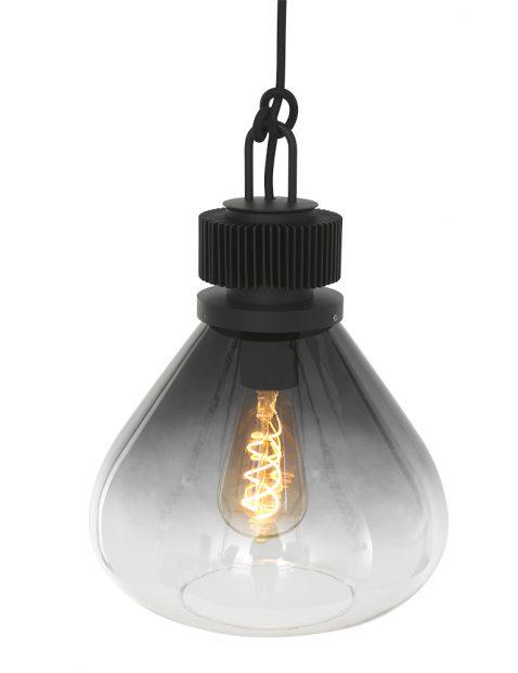 2669ZW-Rookglazen hanglamp