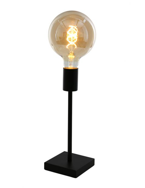Minimalistische tafellamp Mexlite Minimalics mat zwart