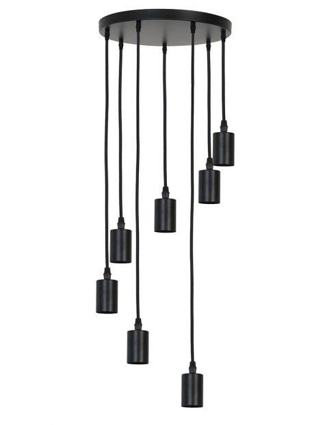 2836ZW-Zevenlichts pendel hanglamp