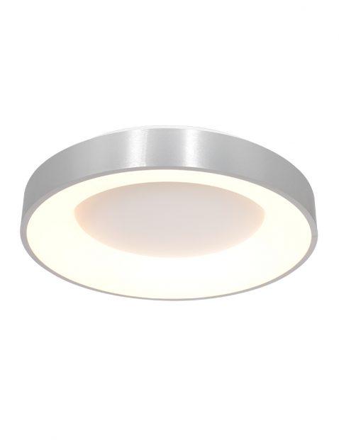 Ronde metalen plafonnière LED Steinhauer Ringlede zilver