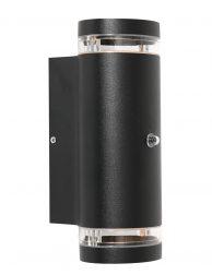 Twee lichts koker buitenlamp met sensor Steinhauer Panay zwart