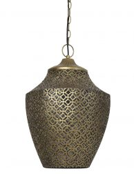 Open oosterse hanglamp Light & Living Selna brons