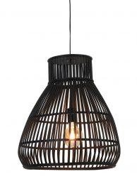 Rotan hanglamp trechtervormig Light & Living Timaka zwart