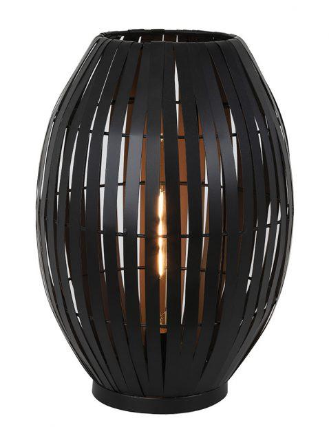 Sfeervolle tafellamp Light & Living Kyomi zwart