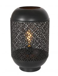 Tafellantaarn met Patroon Light & Living Santora zwart