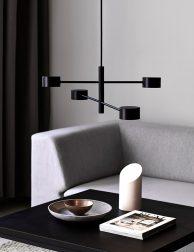 Vierlichts hanglamp LED Nordlux Clyde zwart