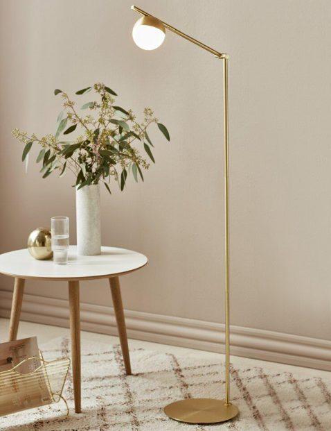 Gouden vloerlamp Nordlux Contina