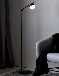 Moderne vloerlamp Nordlux Contina zwart