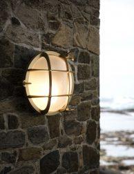 Gouden scheepslamp Nordlux Polperro