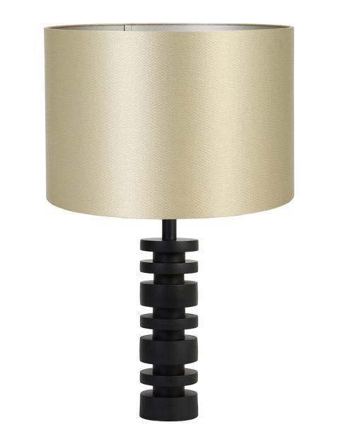 Lampenvoet schijf met gouden kap Light & Living Desley zwart