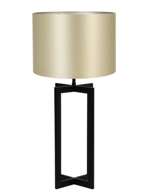 Lampenvoet vierpoot met gouden kap Light & Living Mace zwart