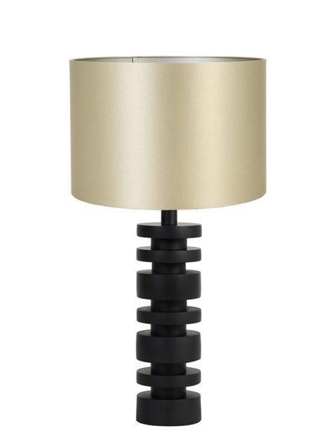 Lampenvoet schijfjes met gouden kap Light & Living Desley zwart