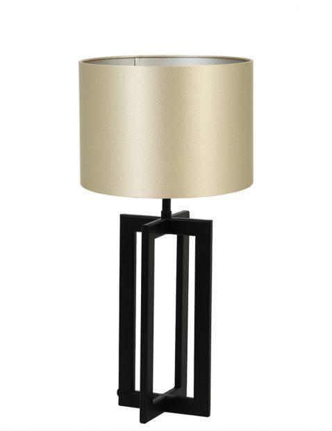 Lampenvoet frame met gouden kap Light & Living Mace zwart