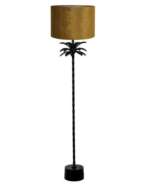 Lampenvoet vloerlamp met gouden kap Light & Living Armata zwart